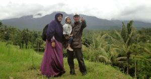 Areal persawahan di kaki Rinjani di Desa Tetebatu, Sikur, Lombok Timur.